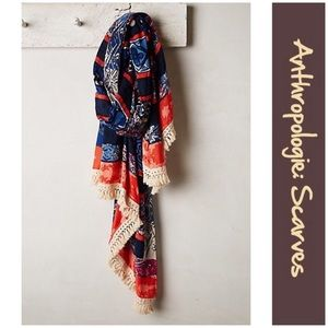 "Anthro ""Fringed Plateau Scarf"" by Rose + Rose"